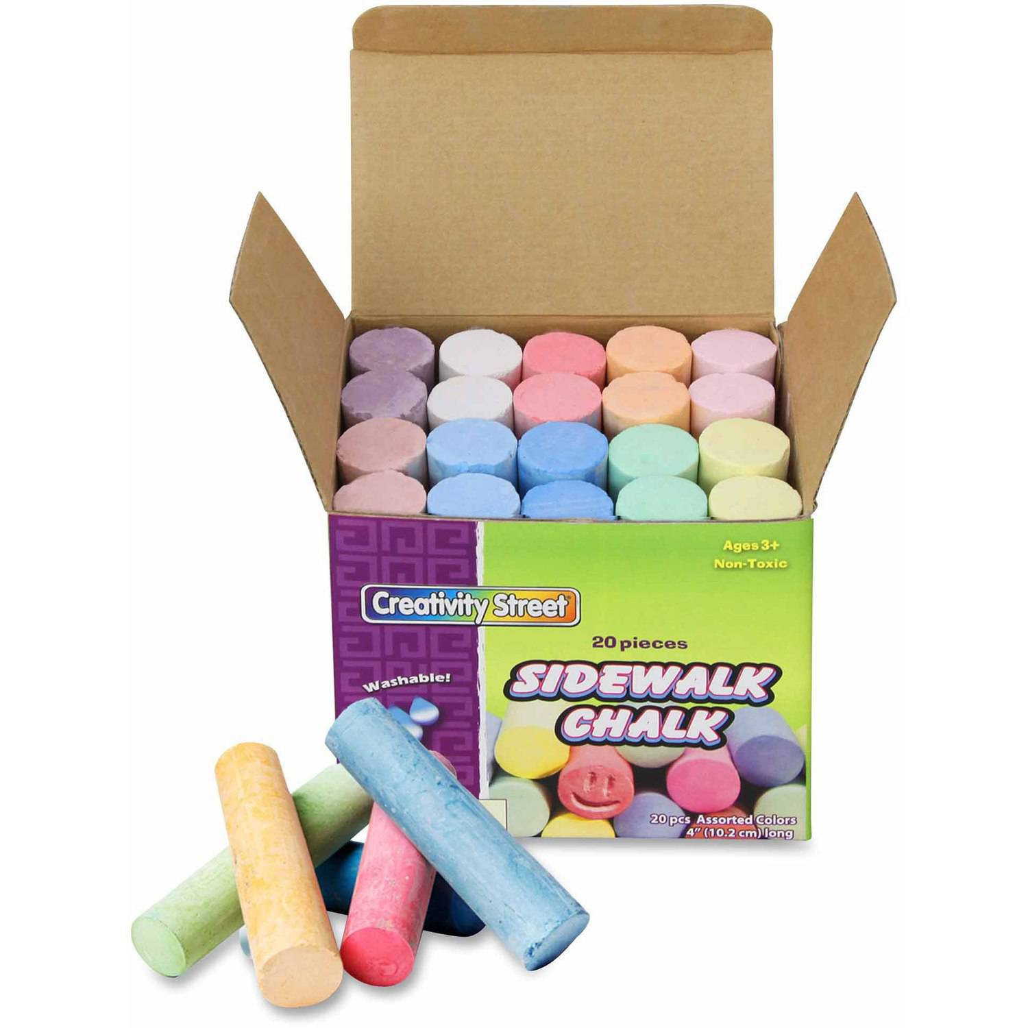 ChenilleKraft Reusable Tub Sidewalk Chalk