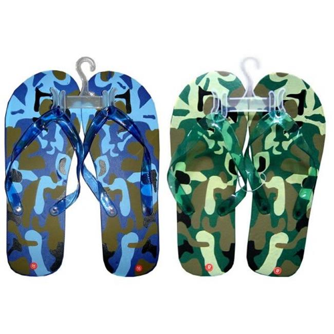DDI 678619 Men's Camouflage Printed Flip Flops Case of 72