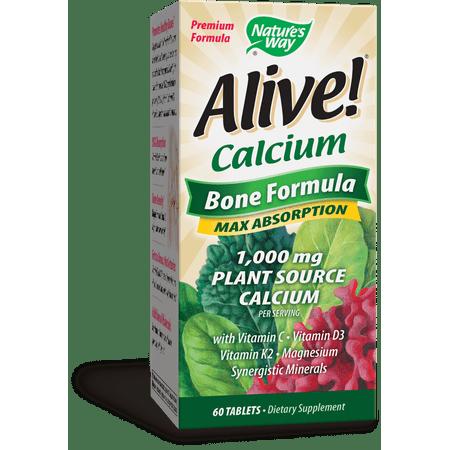 Natures Way Alive! Calcium Bone Formula Supplement 60