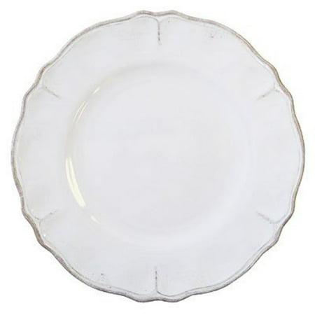Le Cadeaux Rustica Antique White - Melamine Dinner Plates - Set of 8