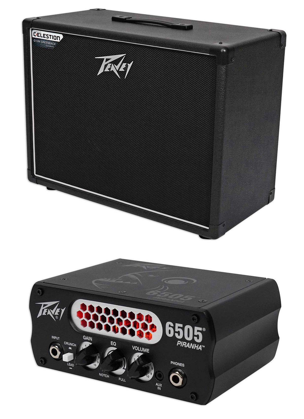 "Peavey 112-6 Extension Cabinet w  12"" 25 Watt Speaker+Micro Head Guitar Preamp by Peavey"