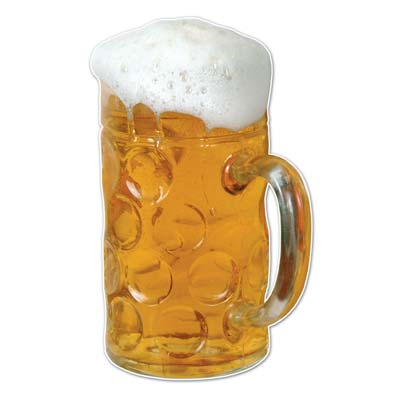 Beer Mug Wall Cling 4ft 2in x 31in by