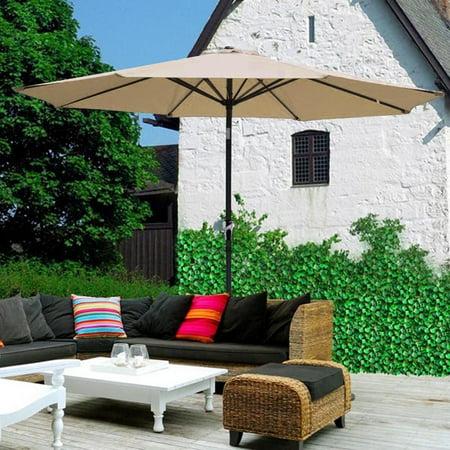 Patio Umbrellas Clearance Svebake 2 7m Hand Cranking Style Waterproof Folding Sunshade Umbrella Stand For Outdoor Tawny