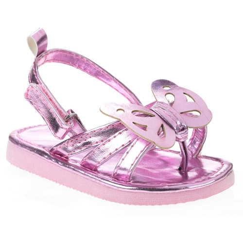 Baby Girls' Butterfly Metallic Sandal