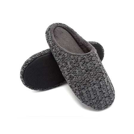 FLORATA Unisex Women Men House Shoes Slippers Indoor Shoes Cotton Knit Memory Foam Slippers Outdoor