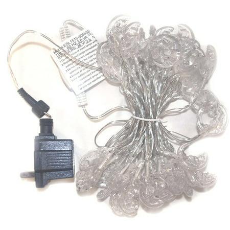 - ALEKO 2EL50LEDMOON Electric Extendable String Lights - 50 LED - 19.5 Feet - White Moon - Set of 2