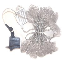 ALEKO 2EL50LEDMOON Electric Extendable String Lights - 50 LED - 19.5 Feet - White Moon - Set of 2