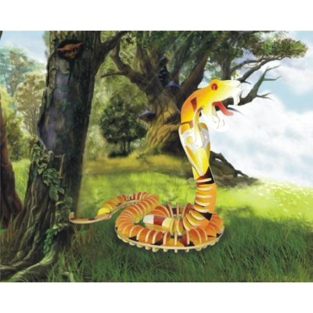 Puzzled Colorful Wood Craft Construction Snake 3D Jigsaw Puzzle 3 D Jigsaw Puzzles