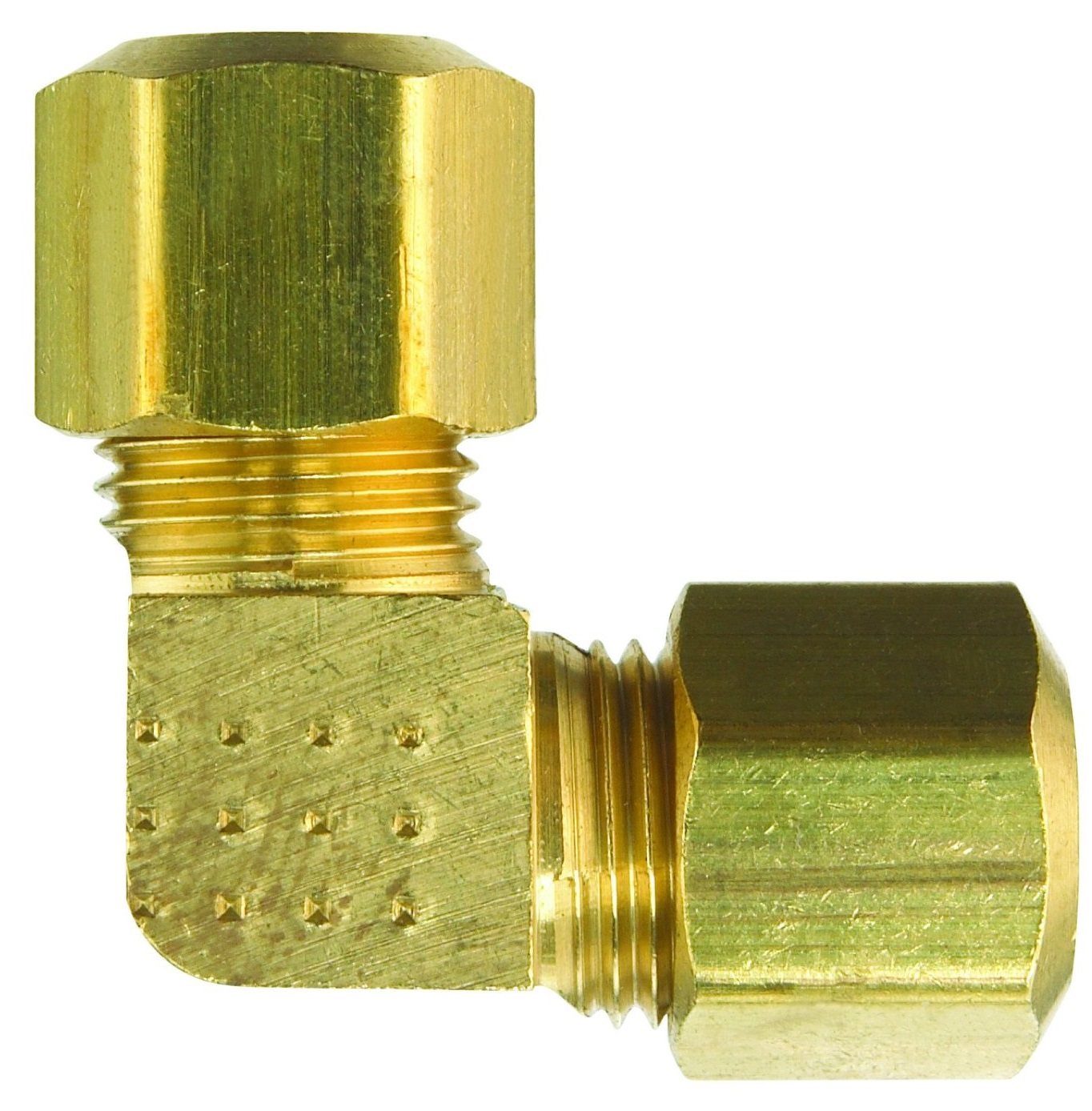 JMF 4338182 90-Degree Compression Elbow, Brass, 400 psi