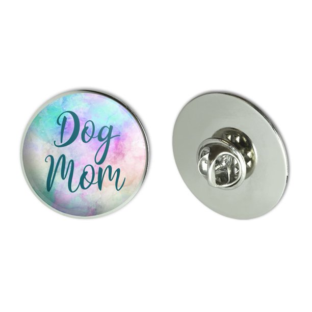 "Dog Mom Metal 1.1"" Tie Tack Hat Lapel Pin Pinback"