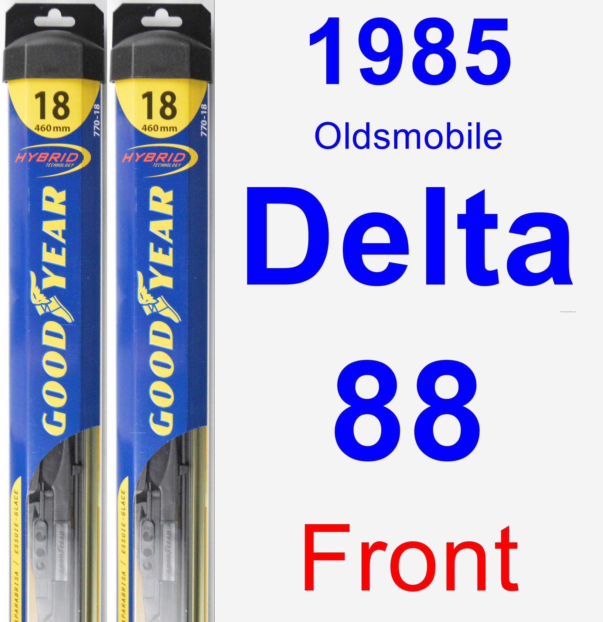 1985 Oldsmobile Delta 88 Wiper Blade Set/Kit (Front) (2 Blades) - Hybrid