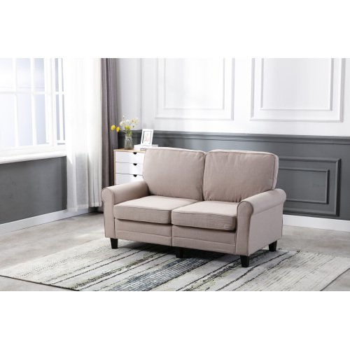Art Life Modern Loveseat Traditional Soft Upholstered 61 Inch Loveseat Sofa Comfortable Apartment Couch With 2 Seat Beige Weave Walmart Com Walmart Com