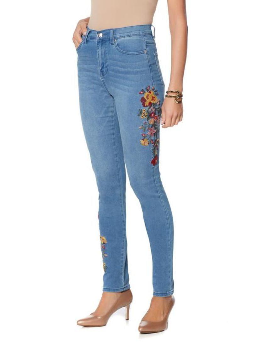 DG2 Diane Gilman Stretch Embroide Skinny Jean 560-497