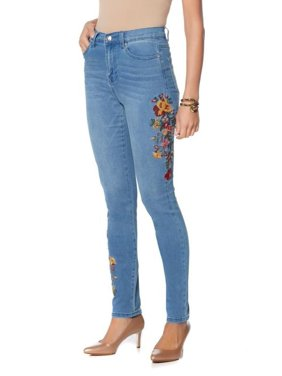 84908364d948d Product Image DG2 Diane Gilman Stretch Embroide Skinny Jean 560-497