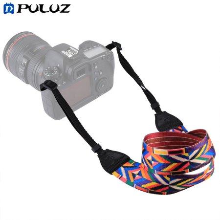 PULUZ Ethnic Style Camera Neck Shoulder Camera Strap Belt Soft Durable Cloth Strap for SLR/DSLR Cameras