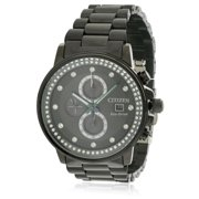 CITIZEN Women's Eco-Drive Nighthawk Black Ion Chronograph Watch FB3005-55E