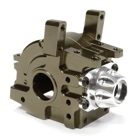 Integy RC Toy Model Hop-ups C26109GUN Billet Machined Front Gearbox Case for Axial 1/10 Yeti Rock Racer