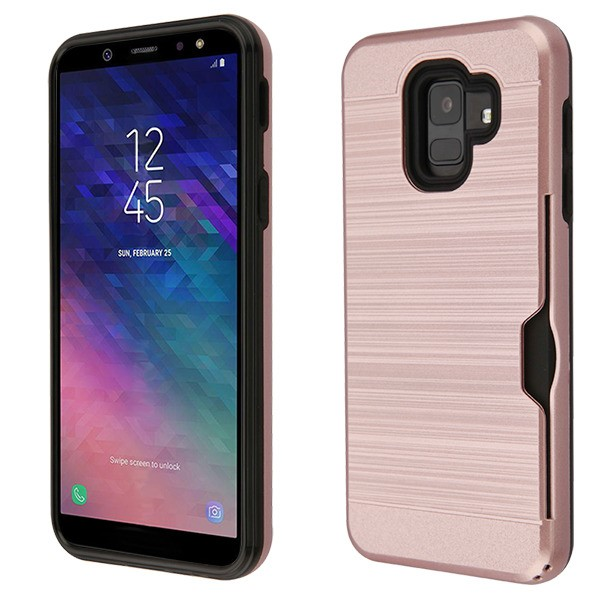 with Card Holder Side Pocket Kickstand NEXCURIO Wallet Case for Galaxy A6 2018 NEHHA120052 Hot Pink Shockproof Leather Flip Cover Case for Samsung Galaxy A6 2018