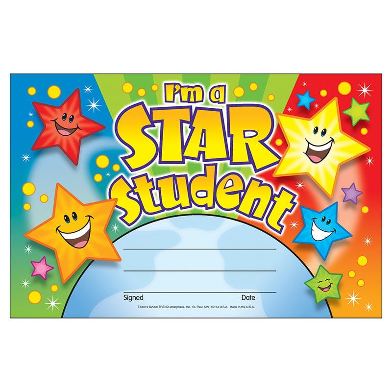 (12 Pk) Awards Im A Star Student