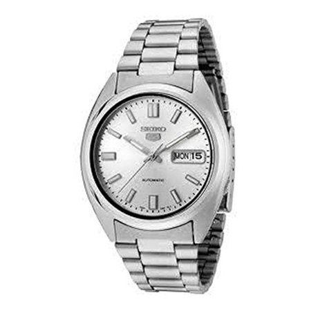 Men S Snxs73 5 Automatic White Dial Stainless Steel Bracelet Watch