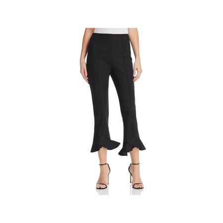 C/Meo Collective Womens Orbit Ruffled Flare Pants Black M