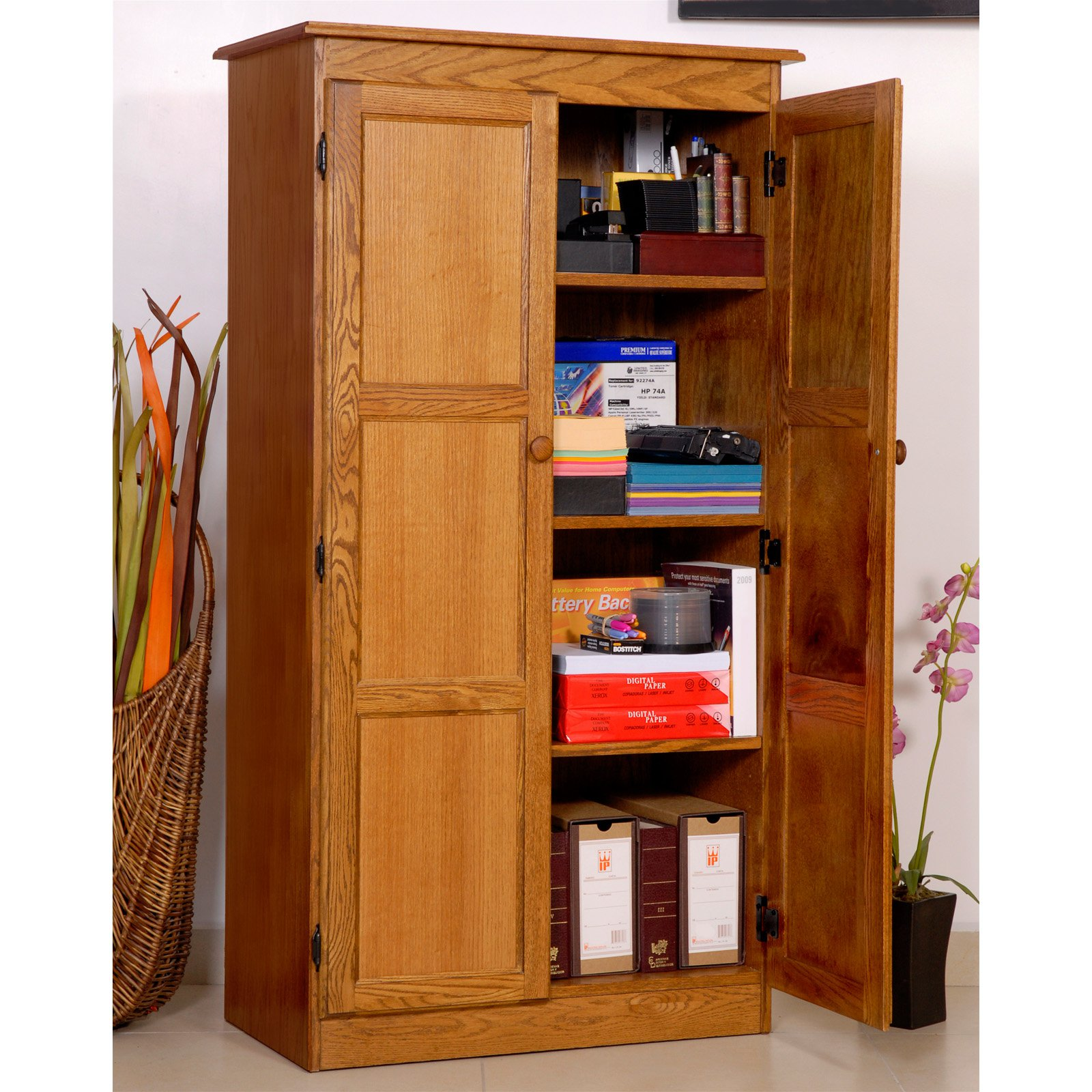 homeplus drawer storage cabinet with furniture cinnamon measurements cherry wardrobe color regarding dakota oak x sauder