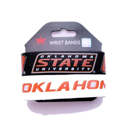 NCAA Oklahoma State Cowboys Sports Team Logo Wrist Band - Set of 2 - image 1 de 1