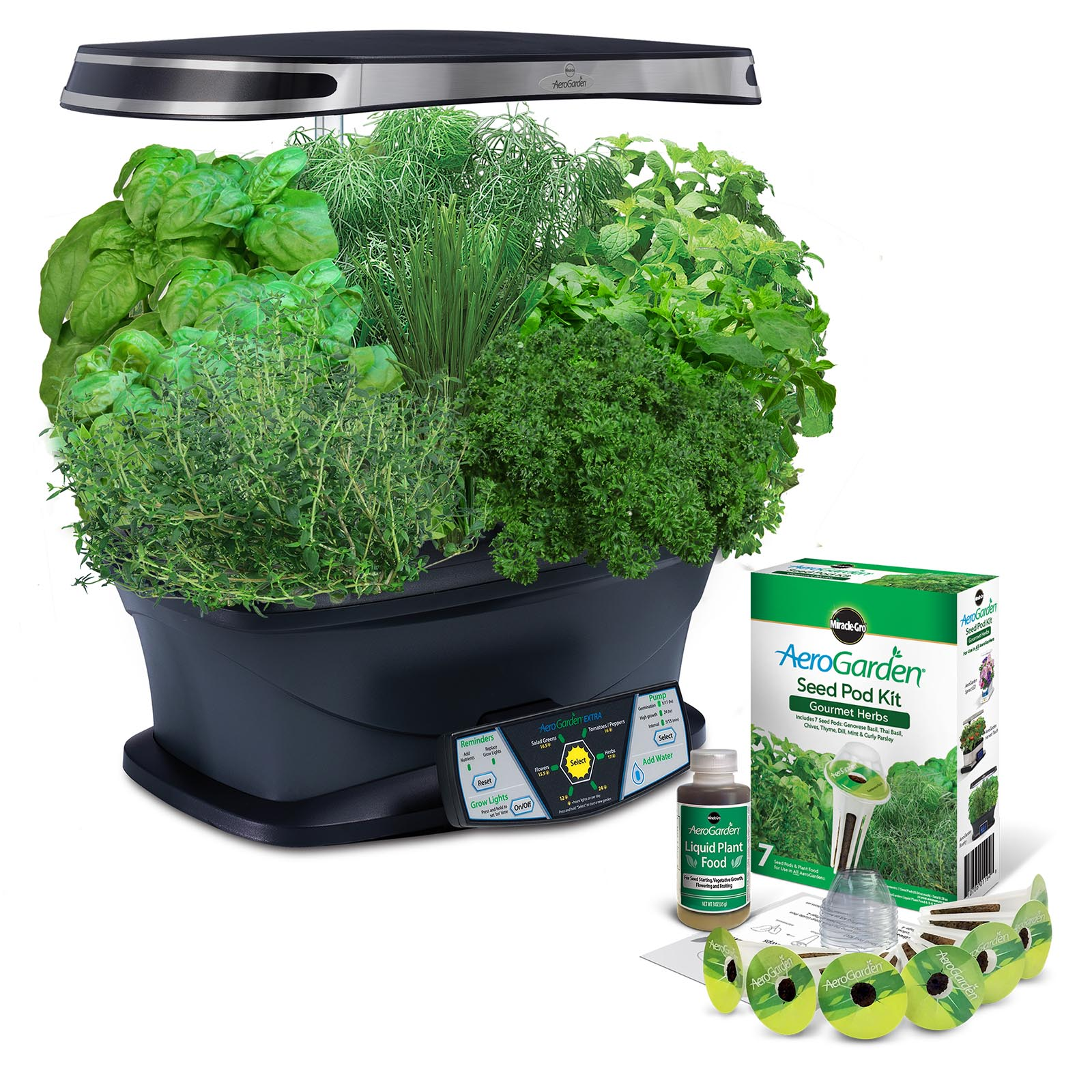 Hydrofarm Miracle-Gro AeroGarden 7-Pod Extra Indoor LED L...