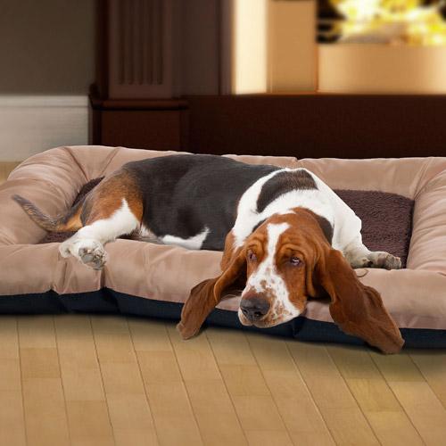 PETMAKER Plush Cozy Pet Crate Dog Pet Bed