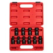 Sunex 2652 14 Piece 1//2-Inch Drive Standard Metric 6 Point Impact Socket Set