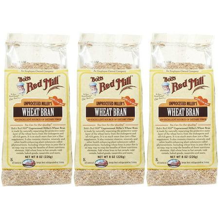 Wheat Bran Flakes - Bob's Red Mill Unprocessed Wheat Bran - 8 oz - 3 pk