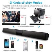 New Wireless Bluetooth Soundbar Speaker TV Home Soundbar Subwoofer with RCA Line
