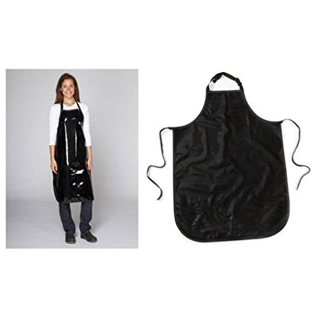 Value Grooming Aprons Water Resistant Vinyl Apron for Dog & Cat Groomers Salon (Value - Black)