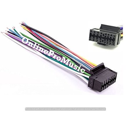 16-PIN RADIO WIRE HARNESS CAR AUDIO STEREO POWER PLUG, BACK CLIP .for. SONY,