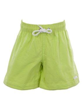 naila boy's drawstring swim trunks solid green