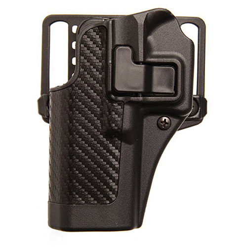 BlackHawk CQC SERPA Holster with Belt and Paddle Attachment fits Glock 19 23 32 36, Left Hand, Carbon Fiber, Black by Generic