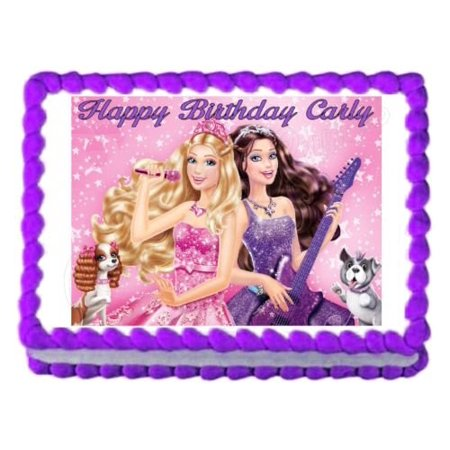 BARBIE Princess And The Popstar Edible Cake Image Topper Frosting Sheet