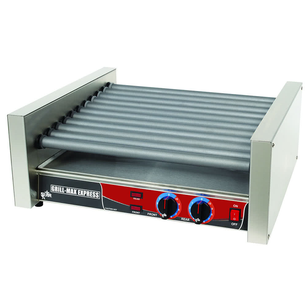 Grill Max Express X30S 30 Hot Dog Roller Grill with Duratec Non-Stick Rollers by TableTop king