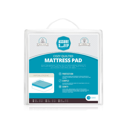 LaCozee Assure Sleep Circle Quilted Waterproof Mattress Pad