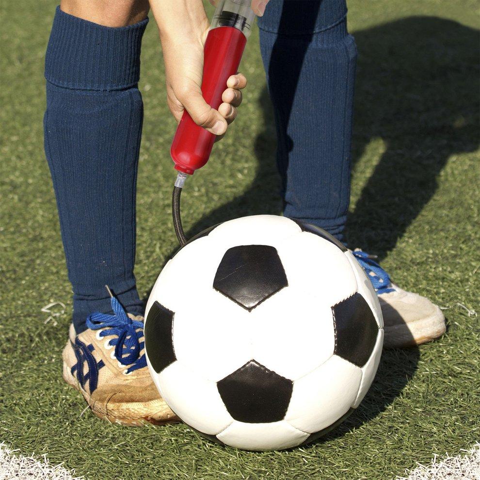 3pcs Mini Inflators Plastic Football Soccer Inflatable Ball Hand Air Pump Needle