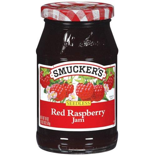 Smucker.s Seedless Red Raspberry Jam, 18 oz
