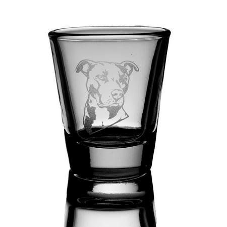 - 2oz Pitbull dog puppy Shot Glass