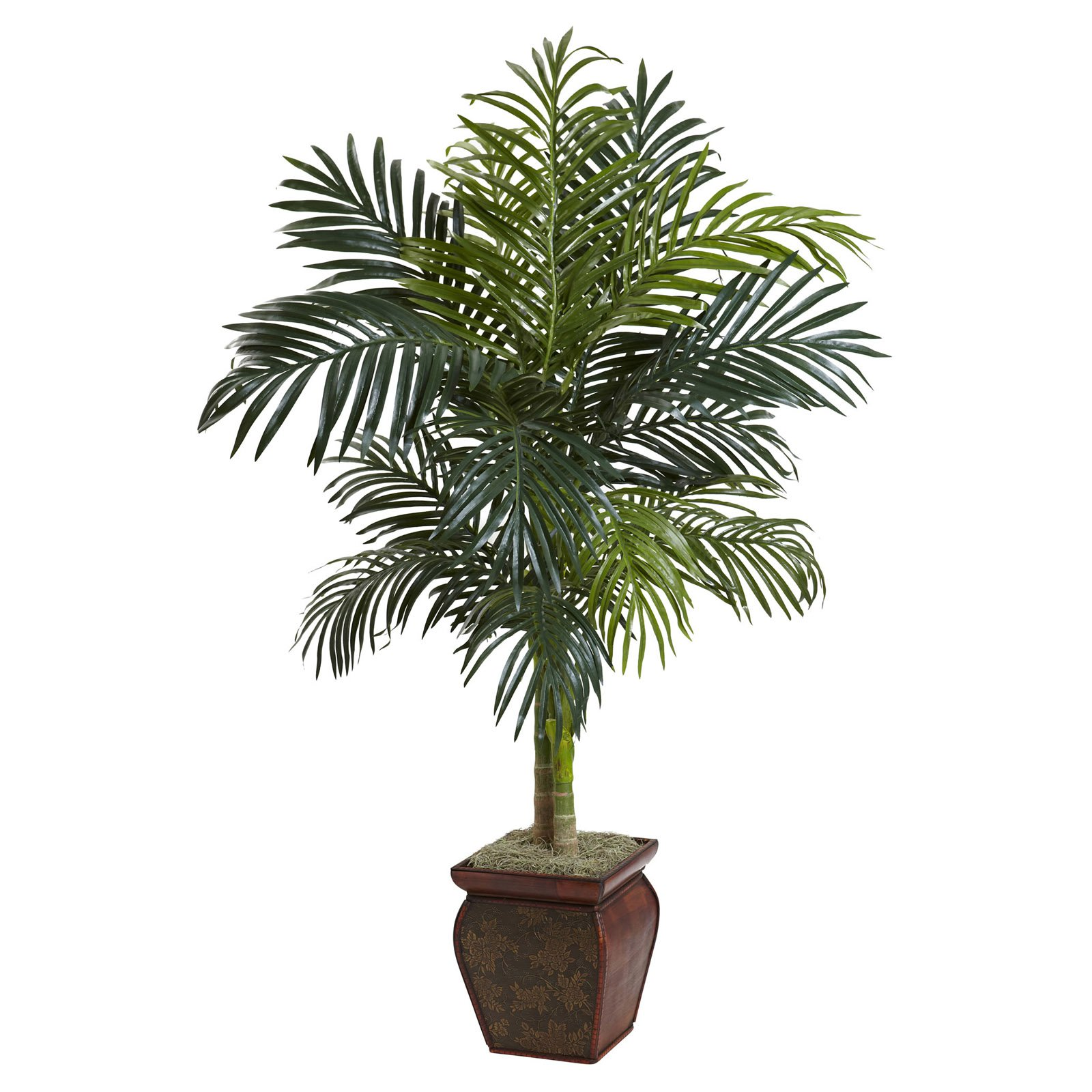 Nearly Natural 4.5 ft. Golden Cane Silk Palm Tree