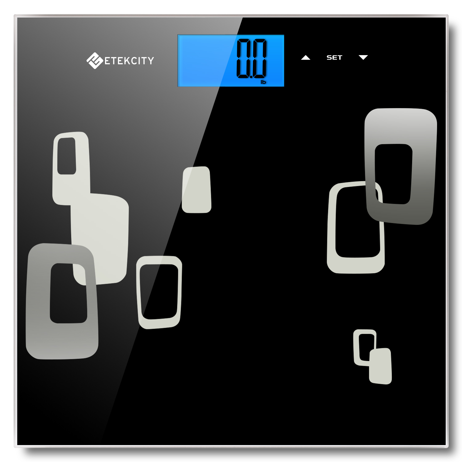 "Etekcity Digital Body Fat Weight BMI Bathroom Scale, Fat, Water, Bones, Muscles, Calorie, and BMI Value, ""Smart Step-on"" Function, Large Backlit Display, 11lb/5kg-400lb/180kg"