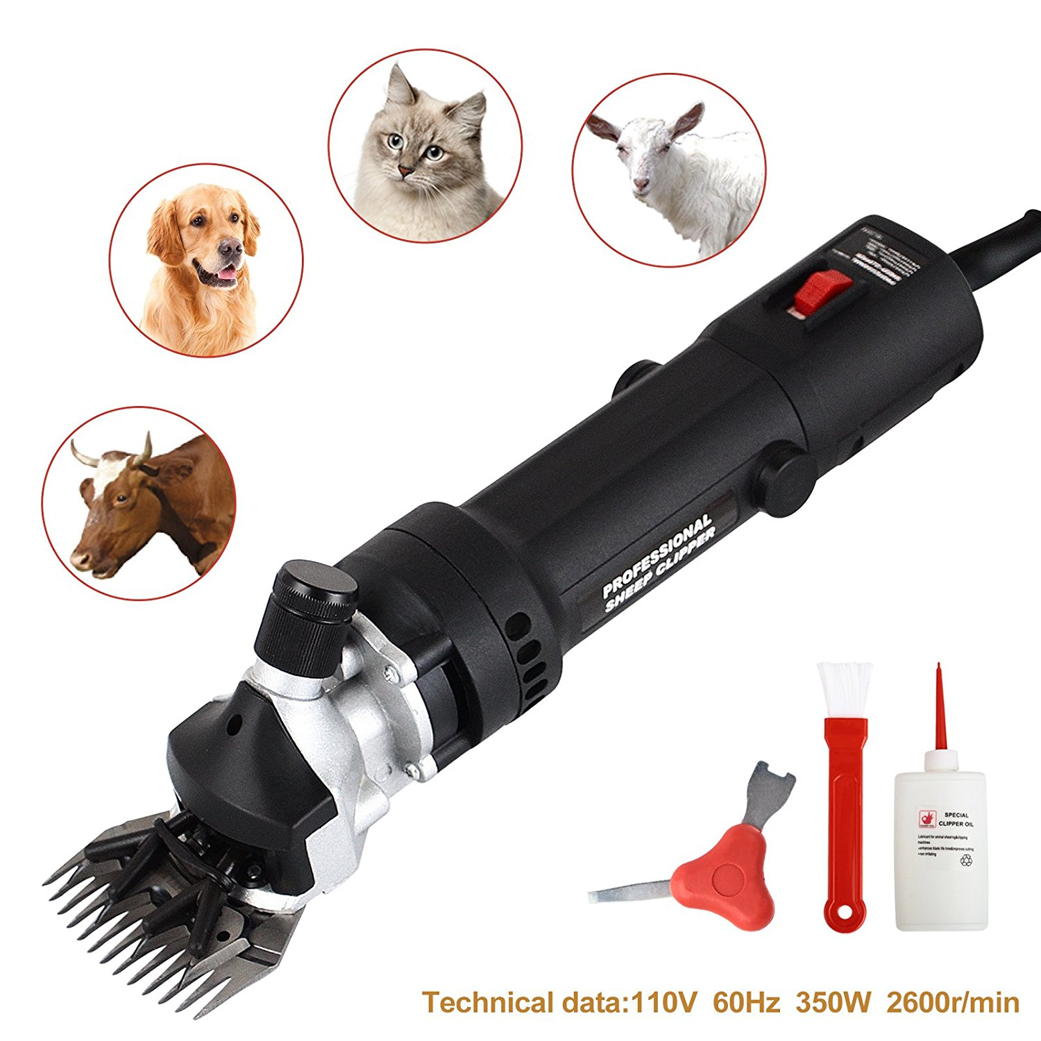 350W Electric Sheep Goat Shears Clippers Animal Shave Grooming Farm Livestock by Uenjoy