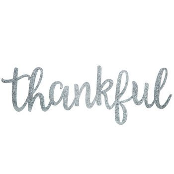 thankful word galvanized metal wall decor constructed of galvanized
