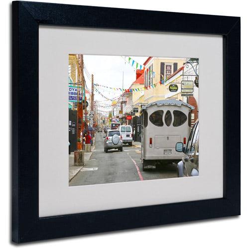 "Trademark Fine Art ""Virgin Islands 7"" Matted Framed Art by CATeyes"