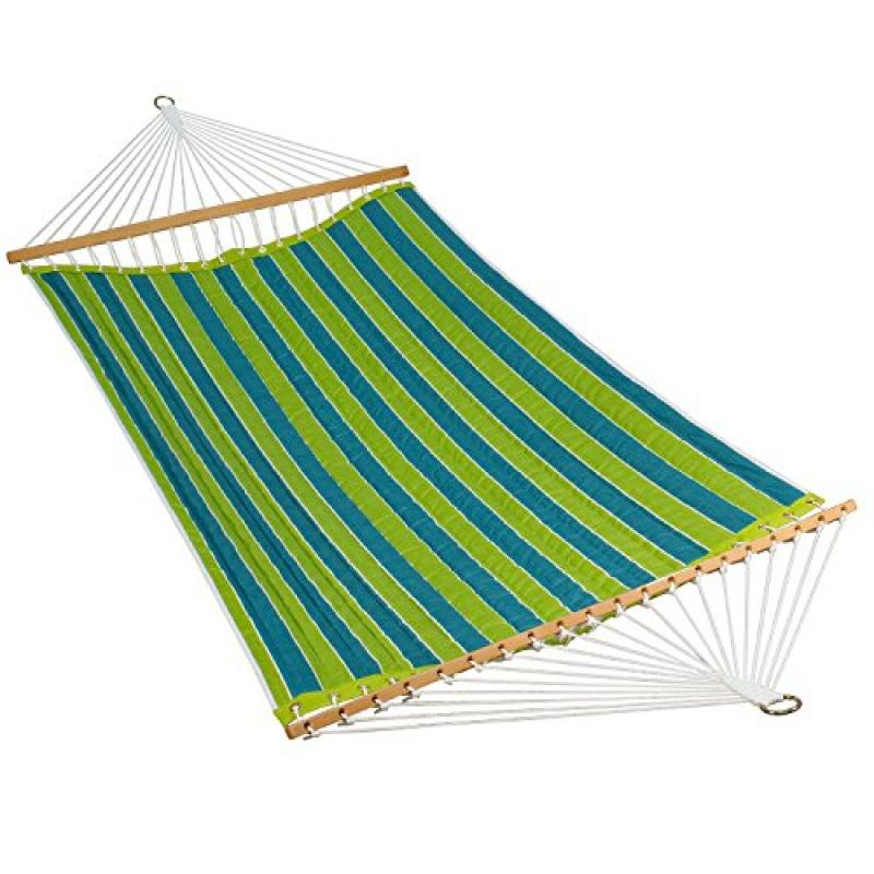 11' Reversible Quilted Fabric Hammock Wickenburg Teal/Cobble Willow - image 1 of 1