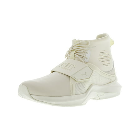 Puma Women's The Trainer Hi By Fenty Whisper White / Ankle-High Fashion Sneaker - 8M (Brooklyn Hi Shoes)