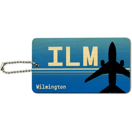 Halloween Store In Wilmington Nc (Wilmington NC (ILM) Airport Code Wood ID Tag Luggage Card for Suitcase or)